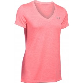 Under Armour TECH SHORT SLEEVE V NECK-TWIST - Koszulka funkcjonalna damska