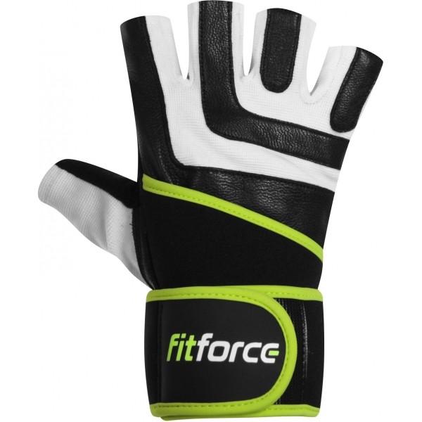 Fitforce DIRECT biela XS - fitness rukavice