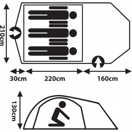 Туристическа палатка - Crossroad ZION 3 - 8