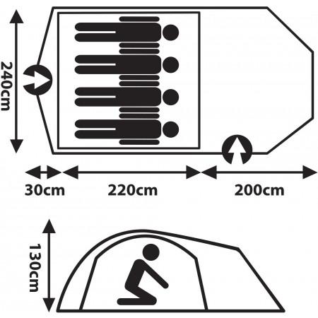 Туристическа палатка - Crossroad ZION 4 - 8