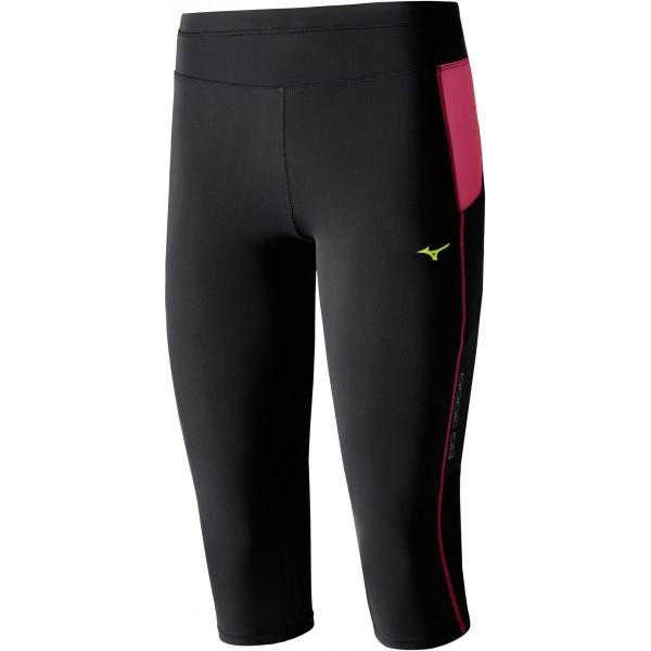 Mizuno BG3000 3/4 TIGHTS W czarny XS - Spodnie do biegania 3/4 damskie