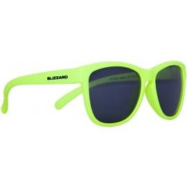 Blizzard RUBBER NEON YELLOW POL - Polarized  Sunglasses