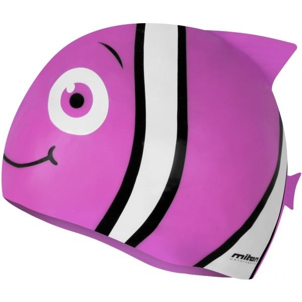 Miton FISH różowy  - Czepek pływacki