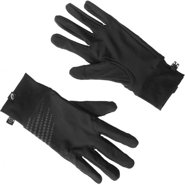Asics BASIC PERFORMANCE GLOVES černá L - Běžecké rukavice