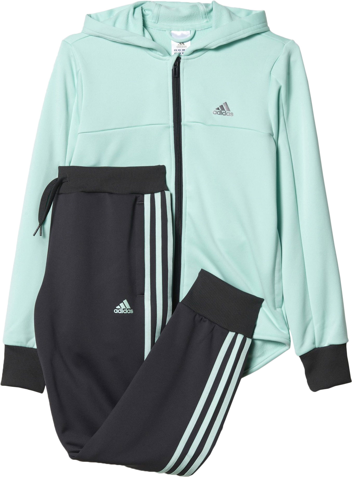 M/ädchen adidas Hooded Polyester Tracksuit