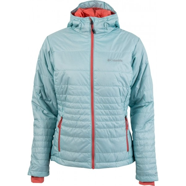 Columbia GO TO HOODED JACKET modrá L - Dámská zimní bunda