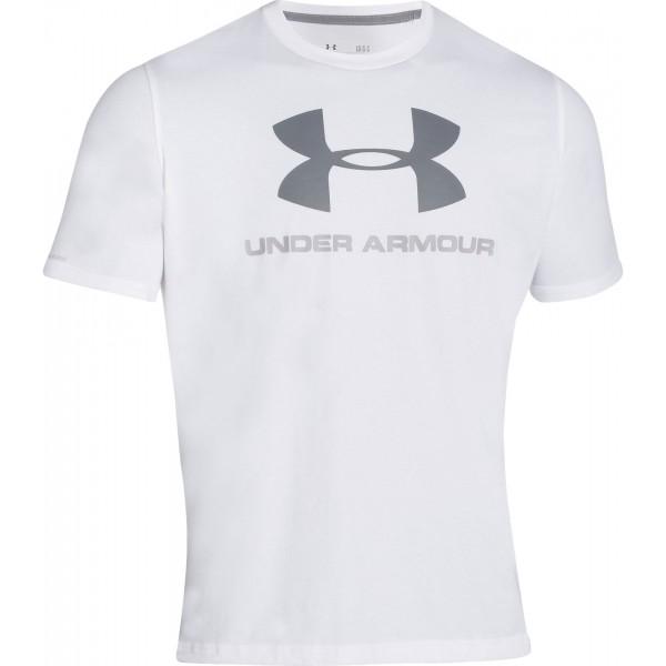 Under Armour SPORTSTYLE LOGO TEE šedá XL - Pánské triko volného střihu