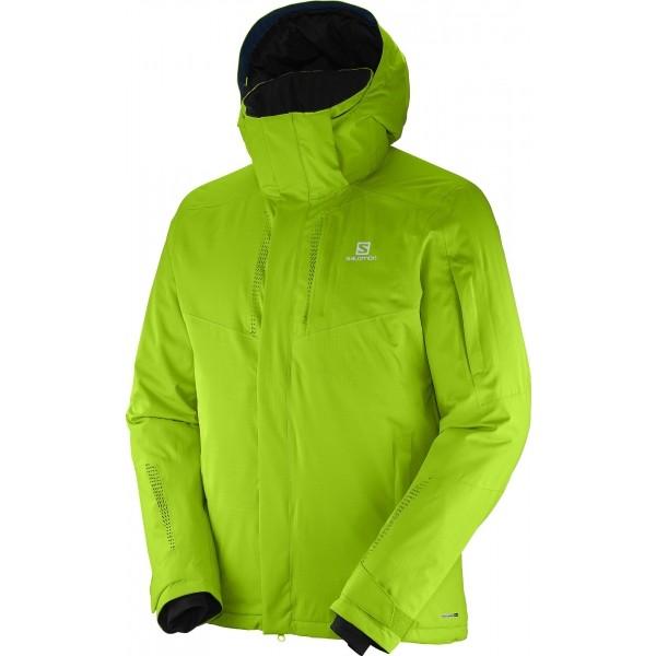 Salomon STORMSPOTTER JKT M zelená XXL - Pánská lyžařská bunda