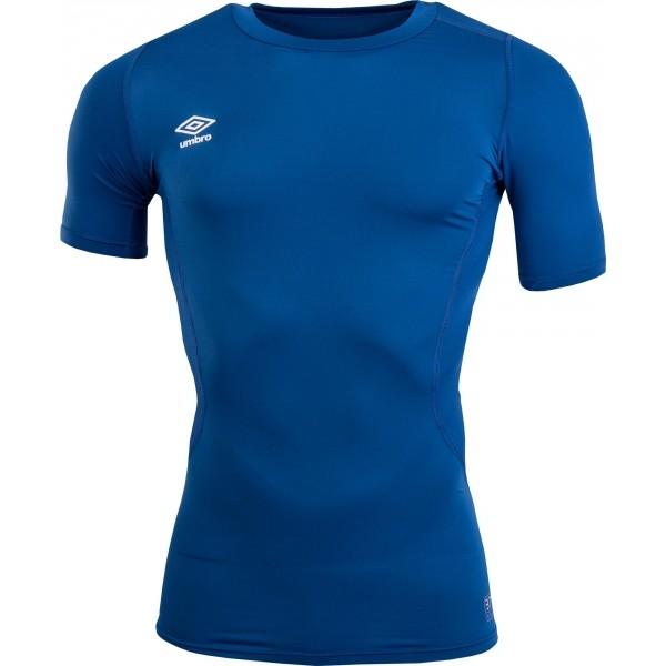 Umbro CORE SS CREW BASELAYER modrá M - Pánské sportovní triko