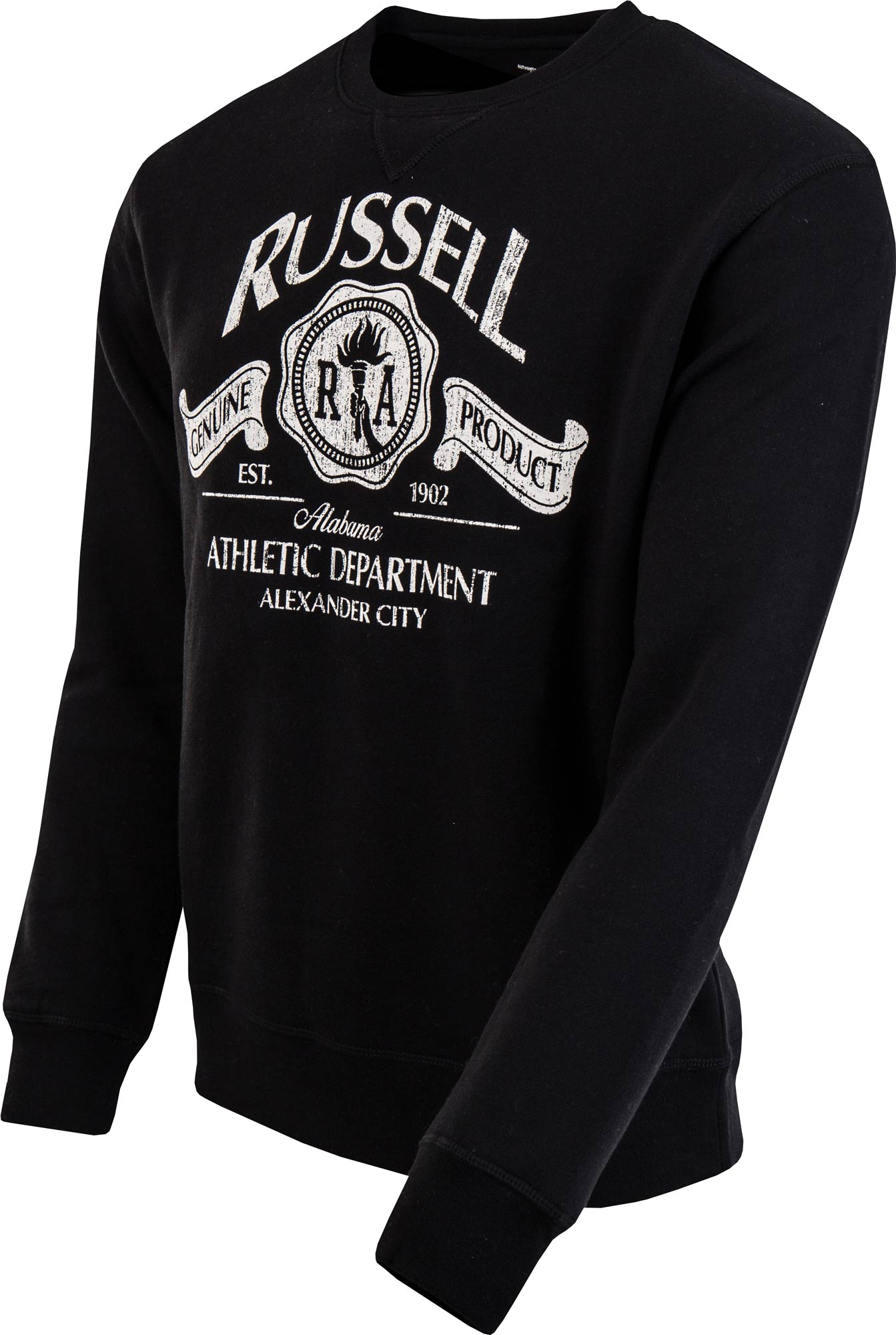 45c57122e8ce Russell Athletic CREW NECK SWEAT WITH RUSSELL DISTRESSED PRINT ...