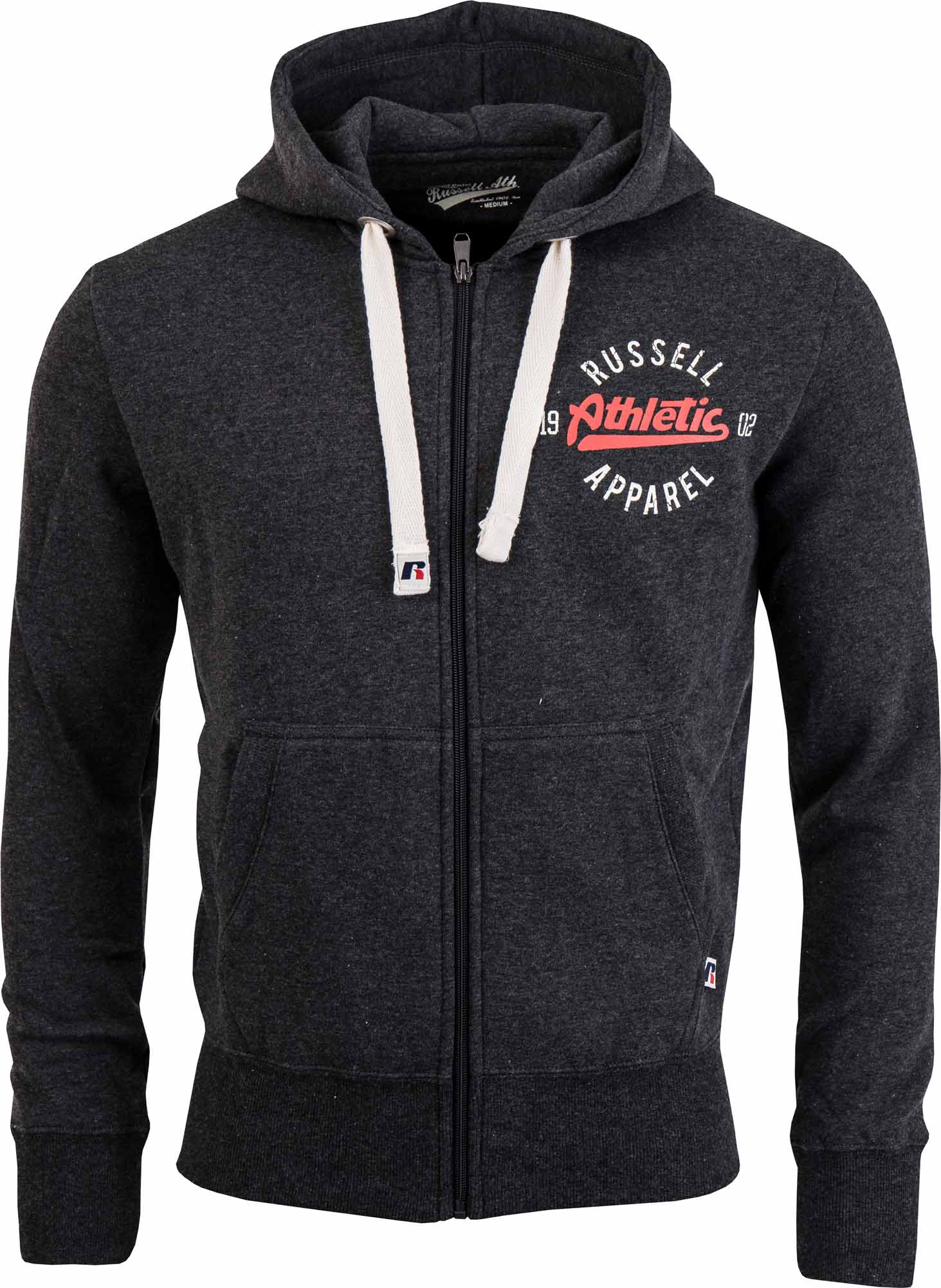 Russell Athletic ZIP THROUGH HOODY WITH CRACKED PRINT. Pánská mikina 4fd780f320f