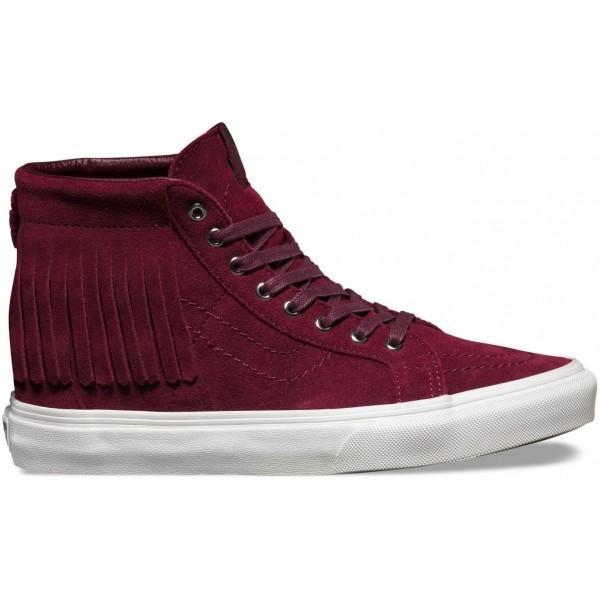 Vans U SK8-HI MOC SUEDE bordó 6.5 - Női cipő