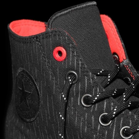 Nepromokavé pánské tenisky - Converse CHUCK TAYLOR ALL STAR II SHIELD CANVAS Black/Reflective/Lava - 11