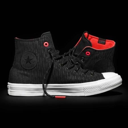 Nepromokavé pánské tenisky - Converse CHUCK TAYLOR ALL STAR II SHIELD CANVAS Black/Reflective/Lava - 12
