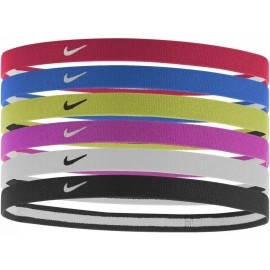 Nike SWOOSH SPORT HEADBANDS 6PK 2.0 - Opaska do włosów sportowa