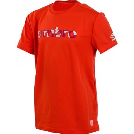 Dětské triko - Umbro PRO TRAINING REFLECITVE WORD TEE JNR - 2