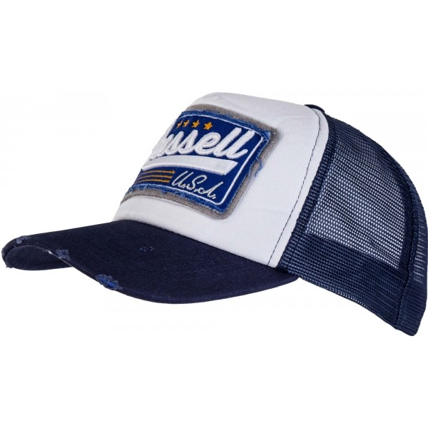 Russell Athletic DISTRESSED AND WASHED TRUCKER CAP modrá NS - Pánská kšiltovka