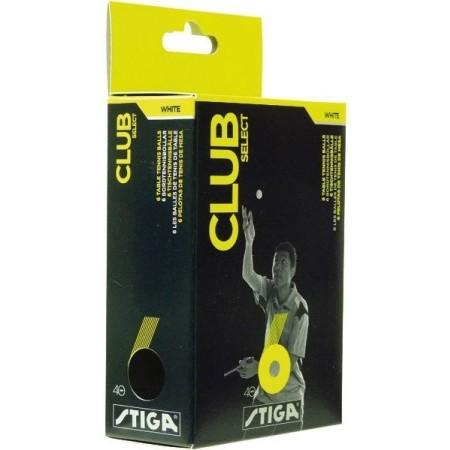 Piłeczka do tenisa stołowego - Stiga CLUB SELECT WHITE 6 PACK