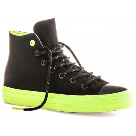 838eb7ef2d19 Converse CHUCK TAYLOR ALL STAR II SHIELD CANVAS Black Volt Gum