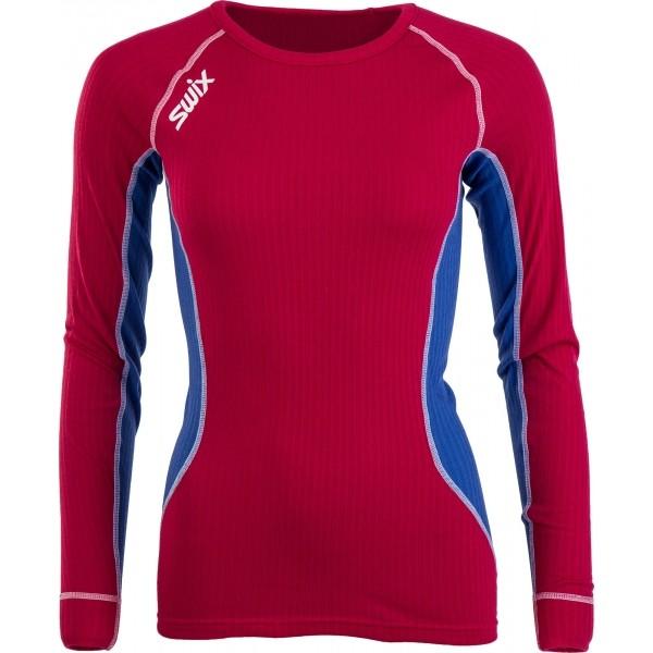 Swix STARX BODYW LS WOMEN červená XL - Dámské sportovní triko