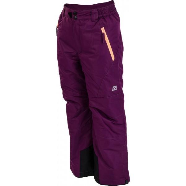 ALPINE PRO DICHRO fialová 164-170 - Dětské kalhoty