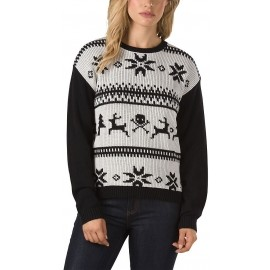 Vans W IM TOASTY SWEATER HOLIDAY WHITE S - Dámský svetr
