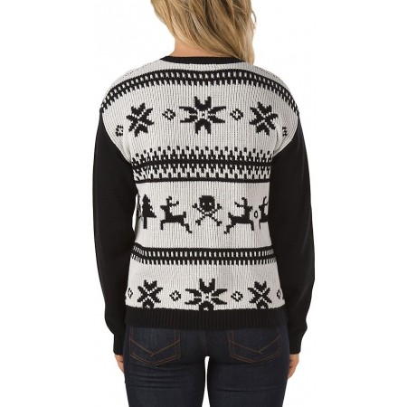Dámský svetr - Vans W IM TOASTY SWEATER HOLIDAY WHITE S - 2