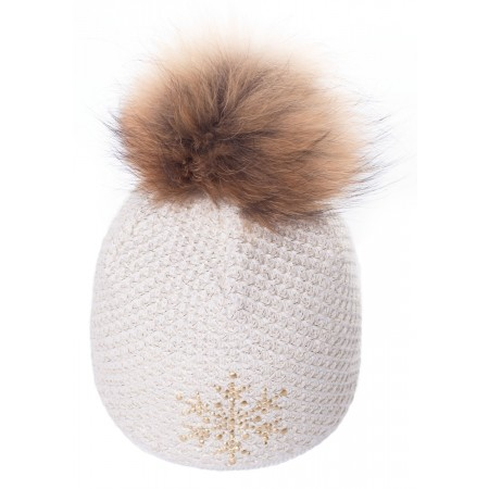 R-JET TOP FASHION EXCLUSIV GOLD LUREX - Women's knitted hat