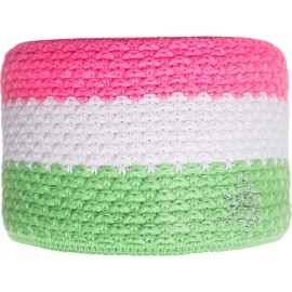 R-JET FASHION EXCLUSIVE STRIPE WITH STONES - Women's knitted headband
