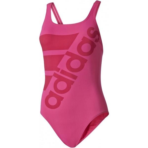 adidas SOLID SWIMSUIT ružová 34 - Dámske jednodielne  plavky