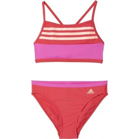 2564ce874 Dievčenské dvojdielne plavky - adidas BY 3S CB BIKINI - 1