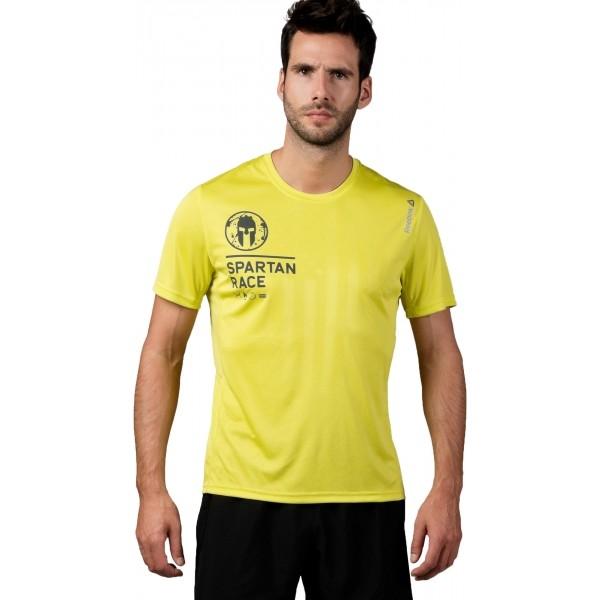 Reebok SPARTAN SS TECH żółty XXL - Koszulka męska
