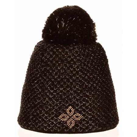 Women's knitted hat - R-JET SPORT FASHION EXLUSIVE GOLDEN LUREX