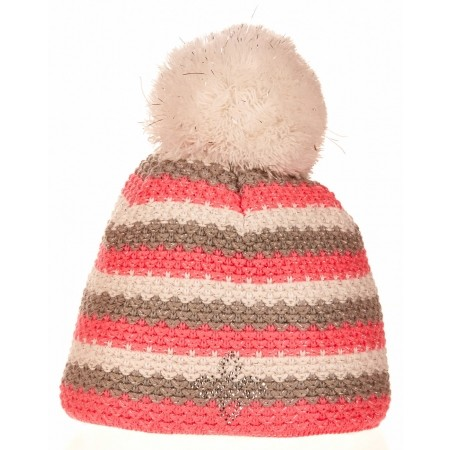 Women's knitted hat - R-JET SPORT FASHION EXLUSIVE STRIPE C LUREX