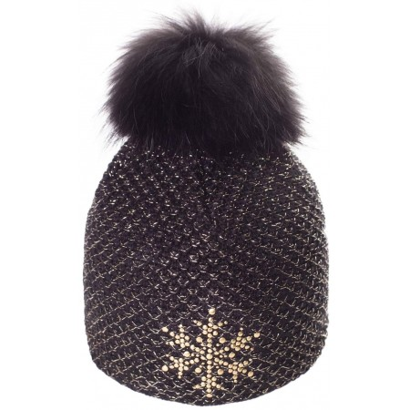Women's knitted hat - R-JET TOP FASHION EXCLUSIV GOLD LUREX