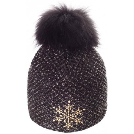 R-JET TOP FASHION EXCLUSIV GOLD LUREX - Women's knitted hat