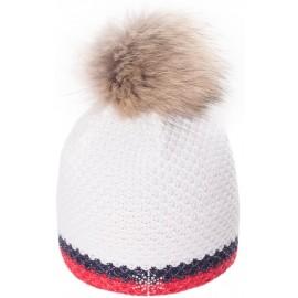 R-JET TOP FASHION EXCLUSIV STŘÍBRÝ LUREX - Dámská pletená čepice