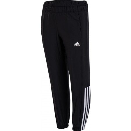 fd3691e7e96e Kids  pants - adidas ESSENTIALS MID 3-STRIPES WOVEN PANT CLOSED - 1