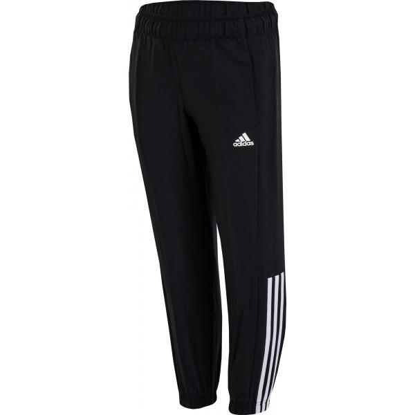 adidas ESSENTIALS MID 3-STRIPES WOVEN PANT CLOSED černá 128 - Dětské kalhoty