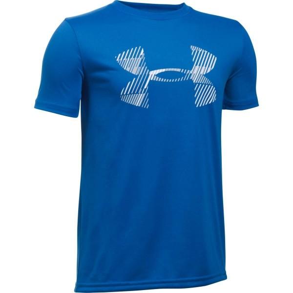 Under Armour COMBO LOGO SS T modrá XL - Chlapecké triko