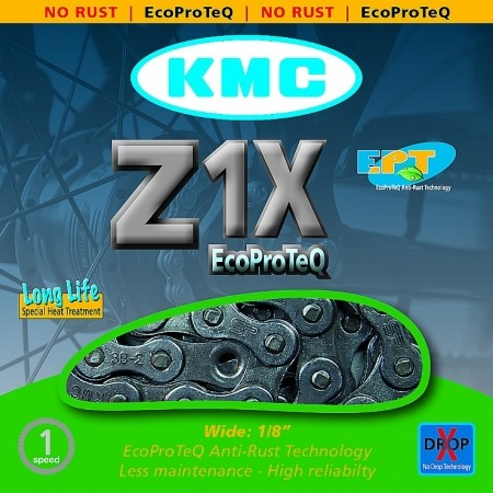 Верига - KMC ŘETĚZ Z1X EPT NEREZ