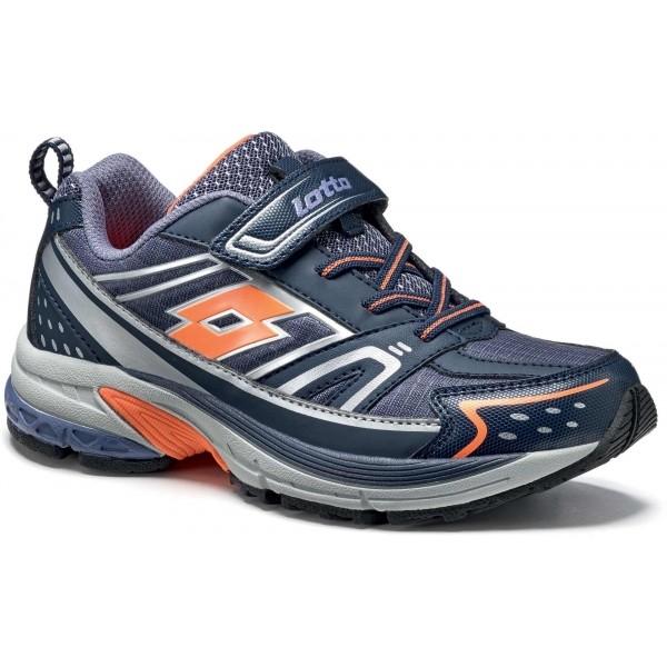 Lotto MOONRUN 600 CL SL tmavě modrá 33 - Dětská sportovní obuv