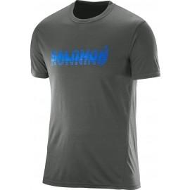 Salomon PARK TECH SS TEE M  ASPHALT - Men's T-shirt