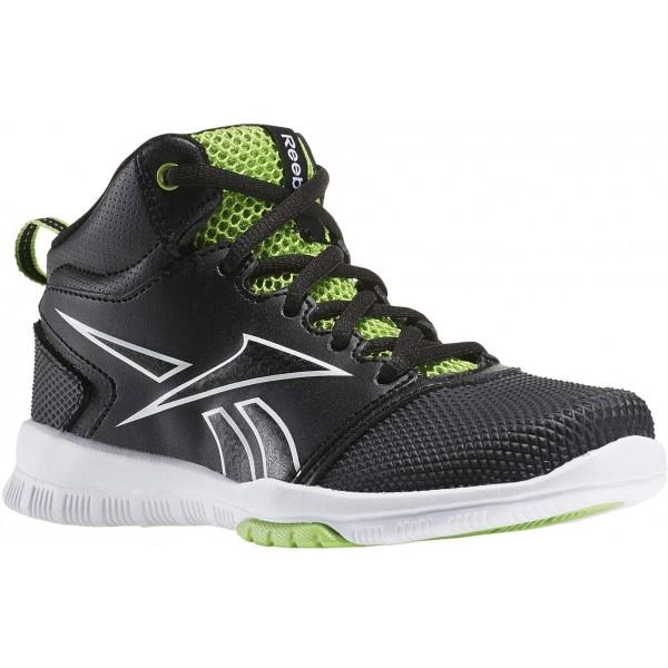 Reebok OWN THE COURT 2.0 zelená 1.5 - Dětská basketbalová obuv