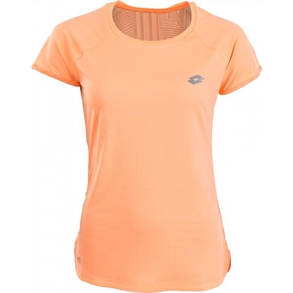 Lotto X RIDE II TEE RGL W pomarańczowy M - Koszulka do biegania damska