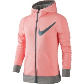 Nike G NSW HOODIE FZ GFX - Dívčí mikina