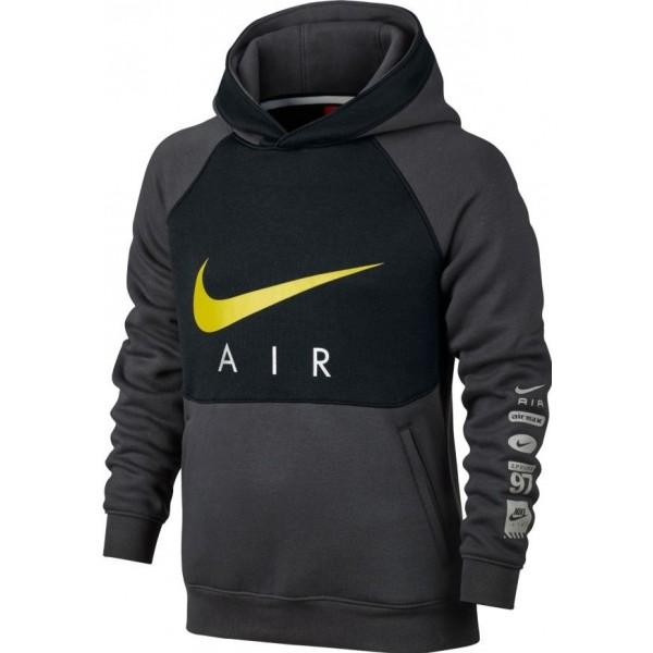 Nike B NK AIR HOODIE PO BF černá S - Chlapecká mikina