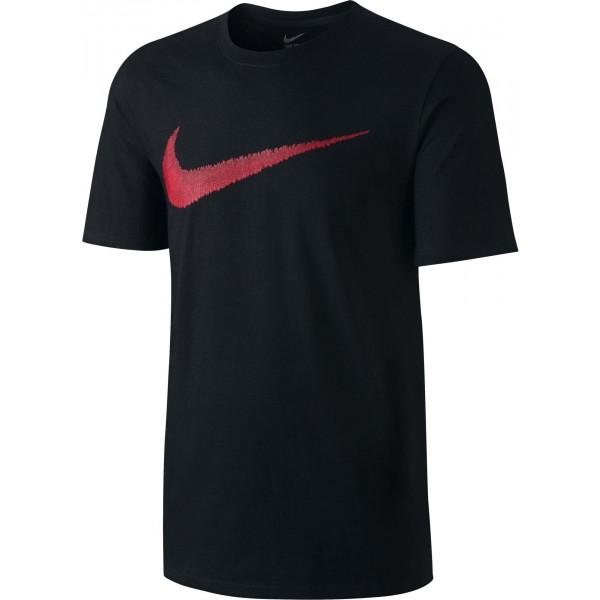 Nike M NSW TEE HANGTAG SWOOSH czarny M - Koszulka męska