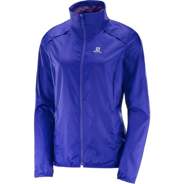 Salomon AGILE WIND JACKET W fialová M - Dámská běžecká bunda