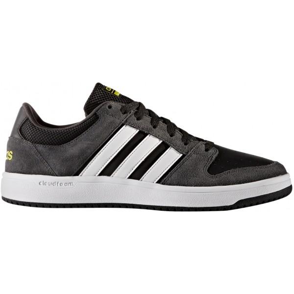 adidas CLOUDFOAM BB HOOPS tmavě šedá 6 - Pánská volnočasová obuv